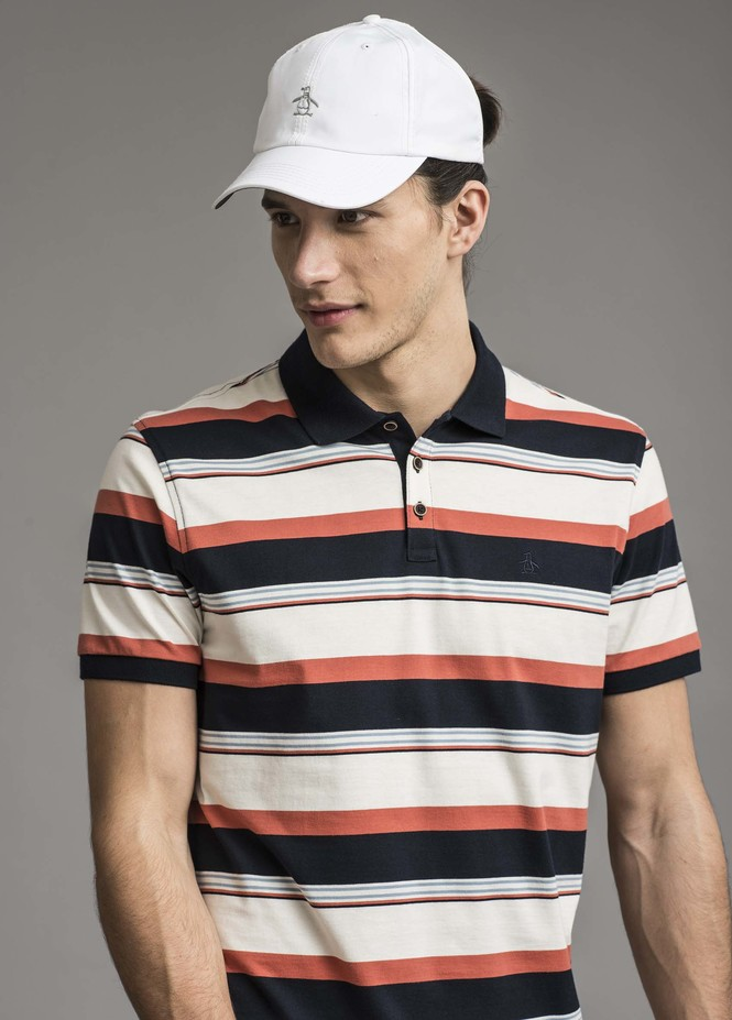 S/S STRIPE BLOCK POLO