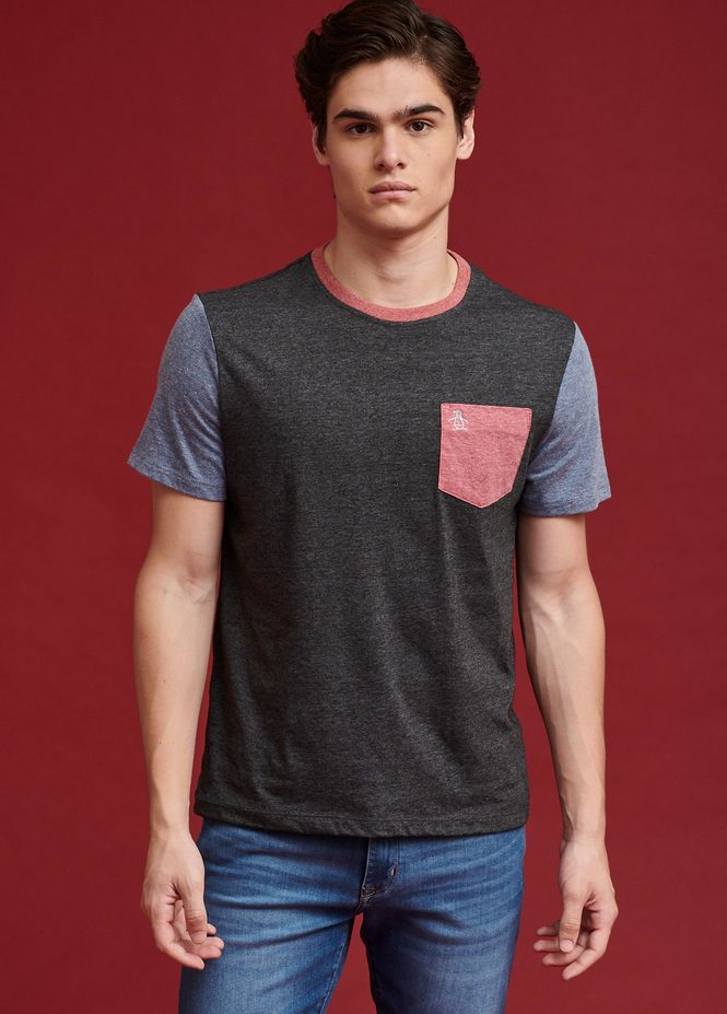 SS CONTRAST POCKET TEE