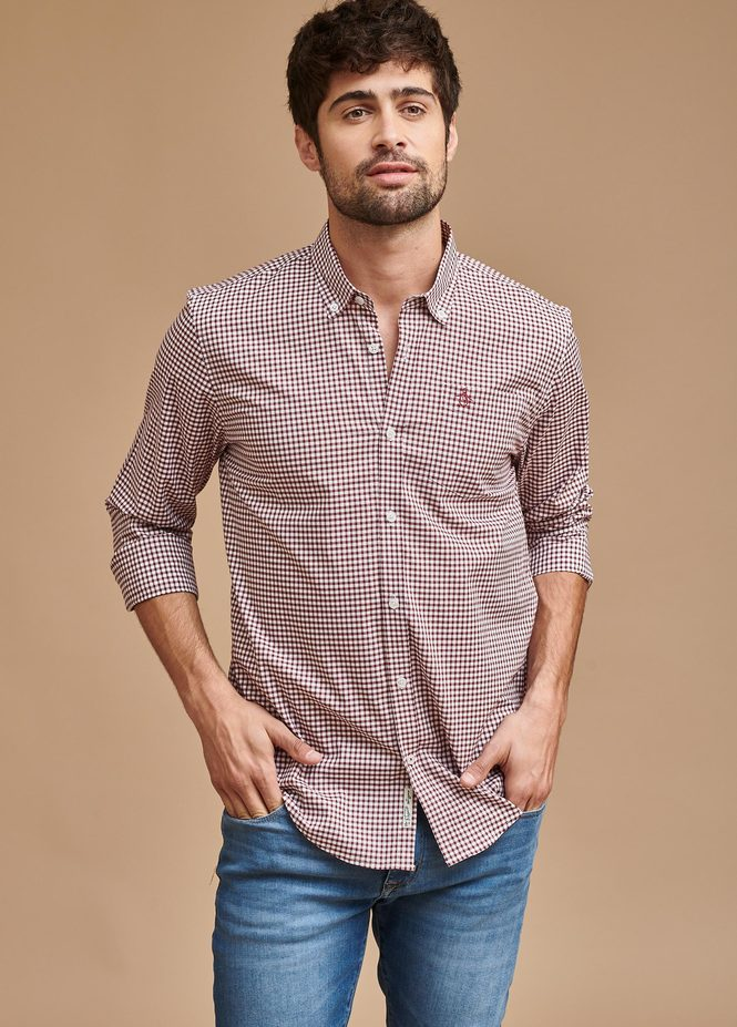 LS GINGHAM SHIRT B/D