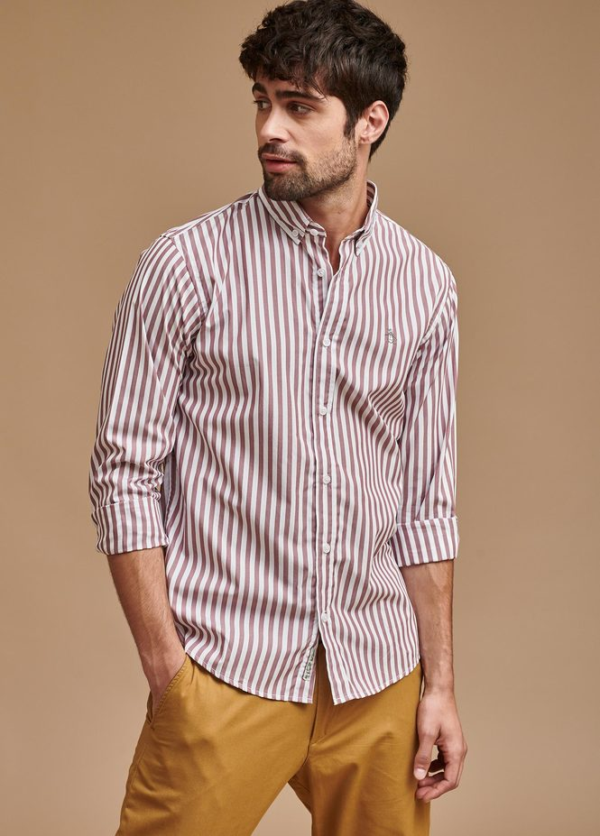 LS WIDE STRIPE SHIRT B/D
